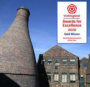 Gladstone Pottery Museum, Stoke-on-Trent is VisitEngland Small Visitor Attraction of the Year 2020