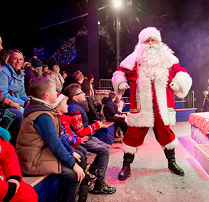 Enjoy the all-new Santa show during your visit to Winter Wonderland at SnowDome