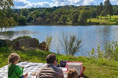 The lake at Trentham Gardens is the perfect destination for a family picnic