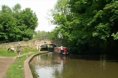 View of the lock and bridge near Shugborough Estate
