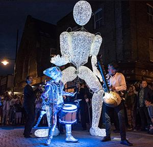 One of the spectacular attractions at Light Night Stoke-on-Trent