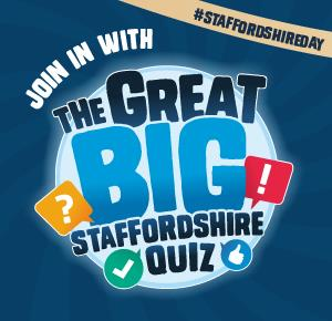 Artwork for The Great Big Staffordshire Quiz, part of the 2019 Staffordshire Day celebrations