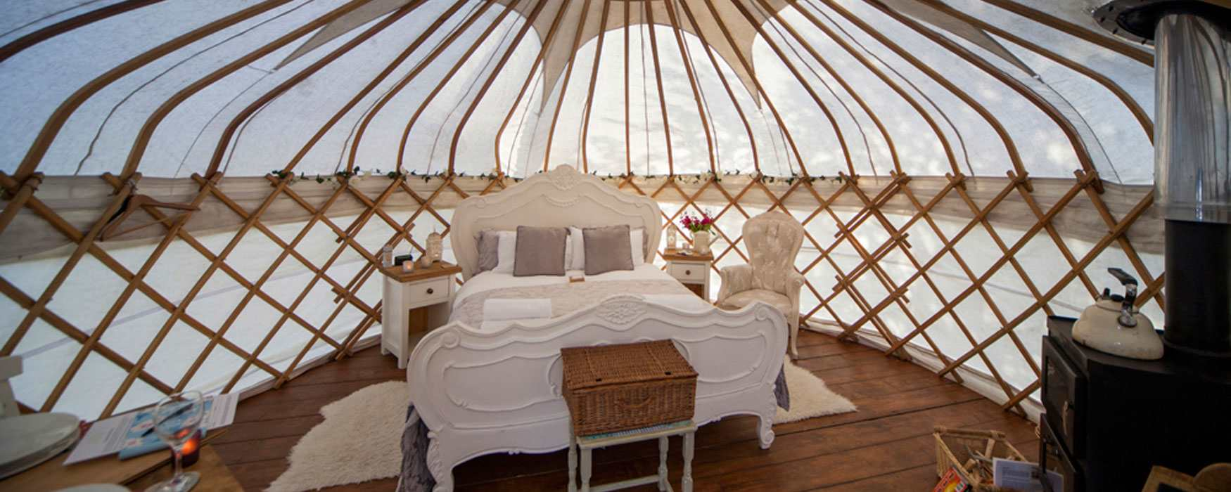 Glamping in luxurious traditional yurts