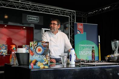 Cookery demonstration at Cosford Food Festival