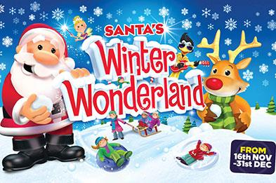 Santa's Winter wonderland at the SnowDome