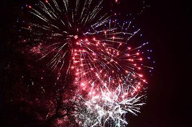 Firework display at Weston Park Staffordshire