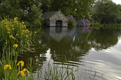 The Boathouse and pool at Biddulph Grange Country Park