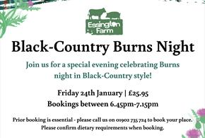 Black-country Burns Night at Essington Farm