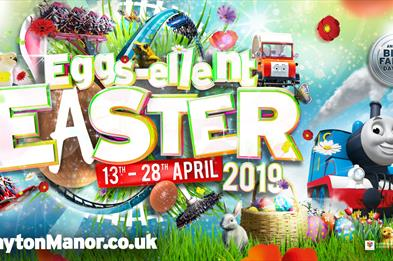 Have an eggs-ellent Easter at Drayton Manor Park