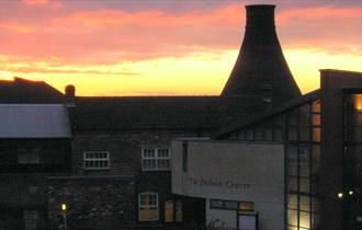 Dudson Museum at twilight