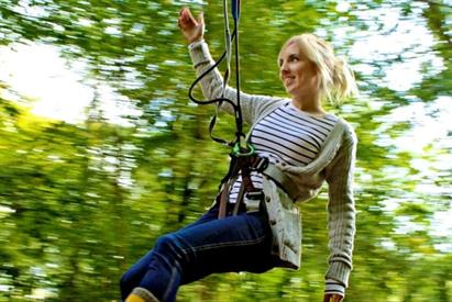 Lady on Zipwire