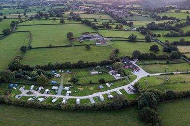 Aerial view of Lower Micklin Touring Park