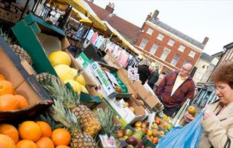 Leek's weekly outdoor market is held every Wednesday in the Market Place