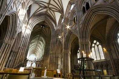 Lichfield Cathedral nave credit Cathy Bower
