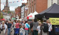 Crowds enjoy browsing the numerous stalls at Lichfield Food Festival