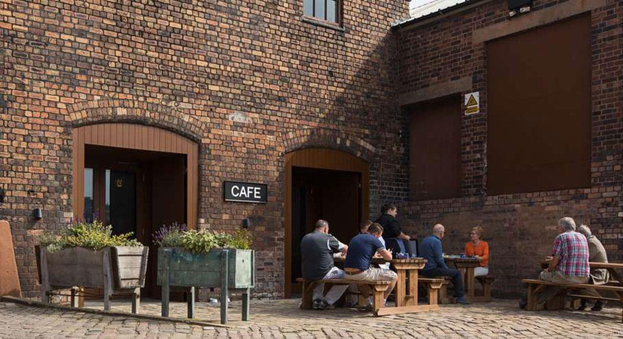 Outside the Tea Room at Middleport Pottery