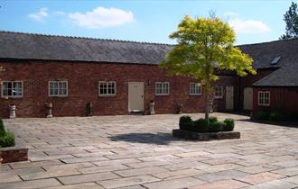 Courtyard view of Moorcourt Holiday Cottages