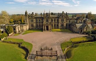 Aerial View of Sandon Hall