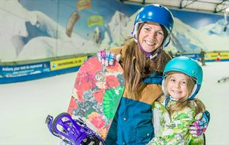 Skiing at SnowDome
