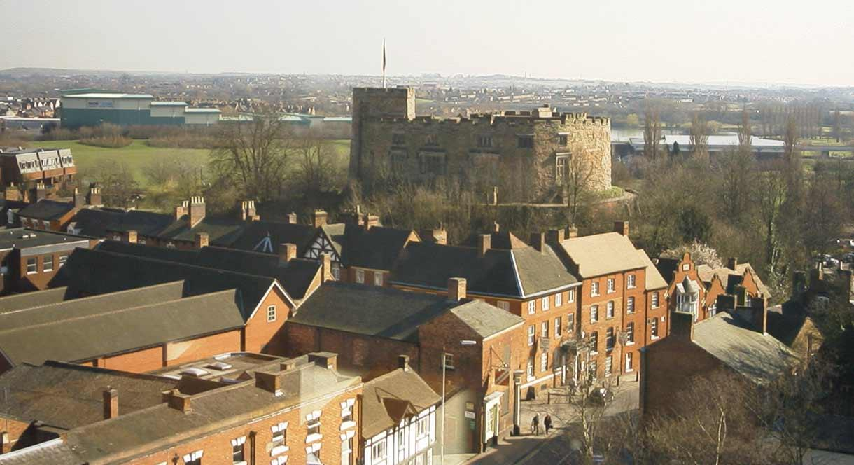 Aerial View of Tamworth Castle