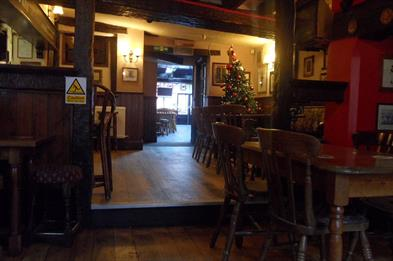 Inside the The Kings Head public house