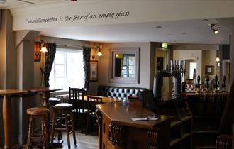 The pub bar area