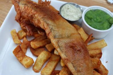 Traditional Fish & Chip by the marina