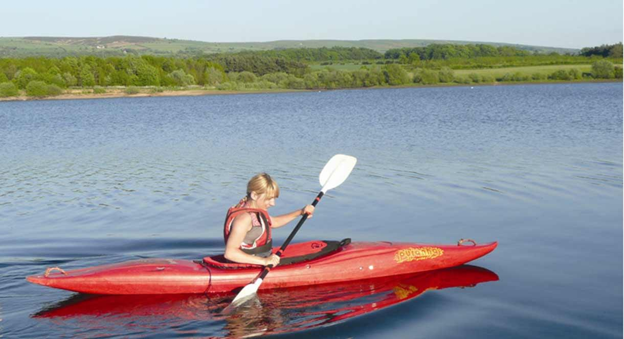 Tittesworth Water, Kayaker