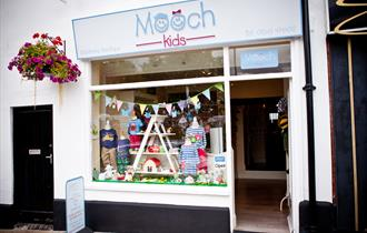 Shop window display at Mooch Kids